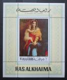 Poštovní známka Rás al-Chajma 1970 Vánoce, Umění Mi# Block 93 A Kat 7.50€