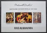 Poštovní známky Rás al-Chajma 1970 Vánoce, umění, Murillo Mi# 349-51 Block Kat 18€