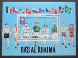 Poštovní známka Rás al-Chajma 1971 Skauti Mi# Block 97