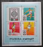 Poštovní známky Fudžajra 1968 LOH Mexiko Mi# Block B 9 A