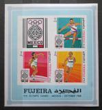 Poštovní známky Fudžajra 1968 LOH Mexiko neperf. Mi# Block B 9 B