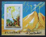 Poštovní známka Fudžajra 1970 Nanebevstoupení Ježíše Mi# Block 31 A