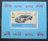 Poštovní známka Jemen 1969 Závodní ford Mi# Block 146 A