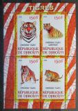 Poštovní známky Džibutsko 2011 Tygři Mi# N/N
