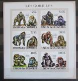 Poštovní známky Komory 2009 Gorily neperf., vzácné Mi# 2142-47 B