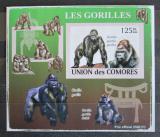 Poštovní známka Komory 2009 Gorily neperf. Mi# 2142 B Block