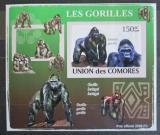 Poštovní známka Komory 2009 Gorily neperf. Mi# 2143 B Block