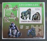 Poštovní známka Komory 2009 Gorily neperf. Mi# 2144 B Block