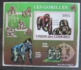 Poštovní známka Komory 2009 Gorily neperf. Mi# 2145 B Block