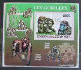 Poštovní známka Komory 2009 Gorily neperf. Mi# 2146 B Block