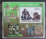 Poštovní známka Komory 2009 Gorily neperf. Mi# 2147 B Block