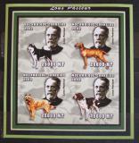 Poštovní známky Mosambik 2002 Louis Pasteur a psi neperf., vzácné Mi# 2524-27 B