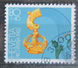 Poštovní známka Švýcarsko 1982 Hotelový štít Mi# 1226