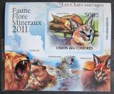 Poštovní známka Komory 2011 Kočkovité šelmy neperf. Mi# 3062 B Block