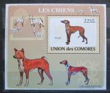 Poštovní známka Komory 2009 Psi Mi# 2137 Block