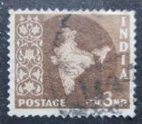 Poštovní známka Indie 1957 Mapa Indie Mi# 261