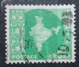 Poštovní známka Indie 1958 Mapa Indie Mi# 289