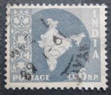 Poštovní známka Indie 1963 Mapa Indie Mi# 290