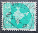 Poštovní známka Indie 1958 Mapa Indie Mi# 291