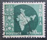 Poštovní známka Indie 1957 Mapa Indie Mi# 265