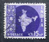 Poštovní známka Indie 1960 Mapa Indie Mi# 294