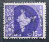 Poštovní známka Indie 1958 Mapa Indie Mi# 267