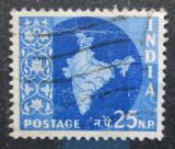 Poštovní známka Indie 1957 Mapa Indie Mi# 269