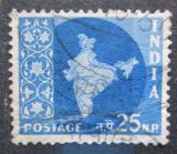 Poštovní známka Indie 1958 Mapa Indie Mi# 296