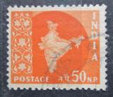Poštovní známka Indie 1959 Mapa Indie Mi# 297
