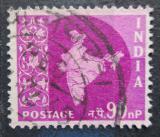 Poštovní známka Indie 1959 Mapa Indie Mi# 298