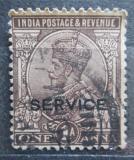 Poštovní známka Indie 1922 Král Jiří V., služební Mi# 65