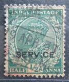 Poštovní známka Indie 1935 Král Jiří V., služební Mi# 89