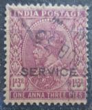 Poštovní známka Indie 1932 Král Jiří V., služební Mi# 86