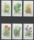 Poštovní známky Moldavsko 1993 Květiny Mi# 81-86