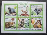 Poštovní známky Komory 2009 Lemuři neperf., vzácné Mi# 2460-64 B