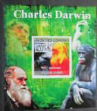 Poštovní známka Komory 2009 Charles Darwin neperf. Mi# 2228 B Block