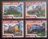 Poštovní známky Sierra Leone 2017 Parní lokomotivy Mi# 8381-84 Kat 11€