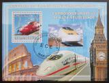 Poštovní známka Mosambik 2009 Lokomotivy Mi# Block 251 Kat 10€