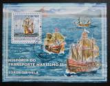 Poštovní známka Mosambik 2009 Staré plachetnice Mi# Block 235 Kat 10€