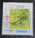 Poštovní známka Kanada 1988 ZOH Calgary, obří slalom Mi# 1075