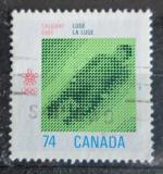 Poštovní známka Kanada 1988 ZOH Calgary, ízda na saních Mi# 1078