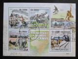 Poštovní známky Svatý Tomáš 2009 Fauna a parní lokomotivy Mi# 4231-35 Kat 12€