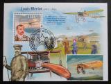 Poštovní známka Guinea-Bissau 2009 Louis Blériot a letadla Mi# Block 736 Kat 13€