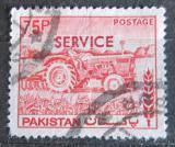Poštovní známka Pákistán 1980 Traktor přetisk, úřední Mi# 120