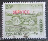 Poštovní známka Pákistán 1979 Traktor přetisk, úřední Mi# 115