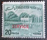 Poštovní známka Pákistán 1970 Zahrady Shalimar přetisk, úřední Mi# 104