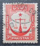 Poštovní známka Pákistán 1948 Váhy spravedlnosti Mi# 24 A