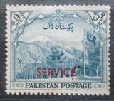 Poštovní známka Pákistán 1954 Pohoří Gilgit přetisk, úřední Mi# 47