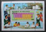 Poštovní známka Maledivy 1982 Vzdělání Mi# Block 87