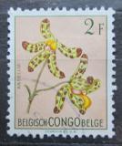 Poštovní známka Belgické Kongo 1952 Květiny, Ansellia gigantea Mi# 306